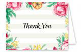 Baby Shower Stripes Thank You Card
