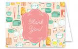 Kitchen Bridal Shower Thank You Card