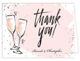 Bubbly Pink Party Thank You