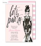 Glamorous Party Girl Invitation
