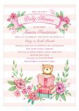 Book Baby Shower Invitation for Girls