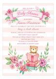 Book Baby Shower Invitation for Girls
