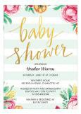 Gender Reveal Stripes Trendy Baby Shower Invitations