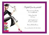 Grad on Books Invitation