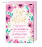 Bat Mitzvah Blossoms Invitation