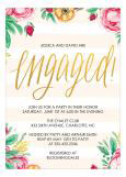 Engagement Stripes Bridal Shower Invitation