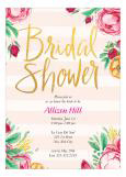Fabulous Floral Bridal Shower Invitation