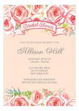 Watercolor Pink Floral Invitation
