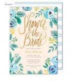 Watercolor Blue Blossoms Invitation