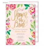 Watercolor Pink Blossoms Invitation