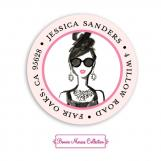 Glamorous Party Girl Return Address Sticker