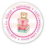 Book Baby Shower Sticker for Girls