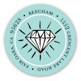 Diamond Ring Blue Address Label