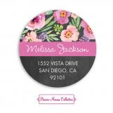 Watercolor Bridal Shower Chalkboard Return Address Sticker