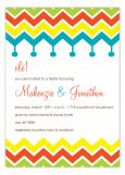 Bold Chevron Tassels Invitation