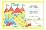 Bounce House Slide Invitation