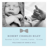 Bow Tie Baby Photo Card