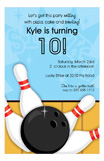 Bowling Bash Invitation