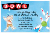 Boy Bowling Invitation