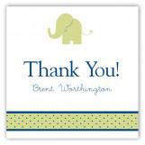 Boy Elephant Icon Square Sticker