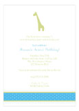 Boy Giraffe Icon Invitation