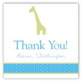 Boy Giraffe Icon Square Sticker