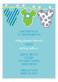Boy Onesies Invitation