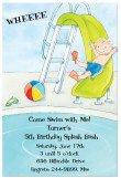Boy Pool Slide Invitation