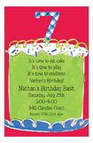 Boy Seventh Birthday Invitation