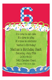 Boy Sixth Birthday Invitation