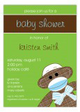 Boy Sock Monkey Invitation