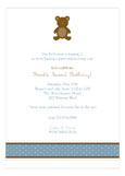 Boy Teddy Bear Icon Invitation