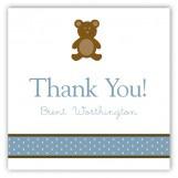 Boy Teddy Bear Icon Square Sticker