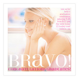 Bravo Brocade Pink Graduation Announcement Photo Cards