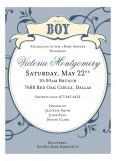 Breezy Banner Blue Invitation