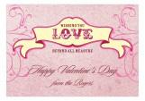 Breezy Banner Valentine Card