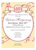 Breezy Love Banner Pink Invitation