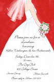 Bridal Dress Red Invitation