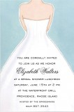 Bridal Dress Back Invitation