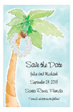 Bridal Palm Tree Invitation