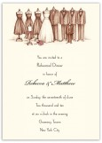 Bridal Party Rehearsal Dinner Invitations