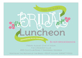 Bridal Shower Luncheon Invitation