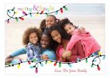 Bright Christmas Lights Photo Card
