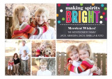 Bright Confetti Chalkboard Collage Photo Card