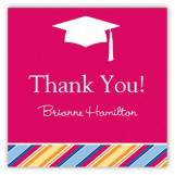 Bright Graduation Cap Square Sticker