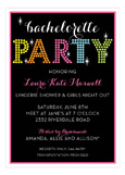 Bright Lights Bachelorette Invitation