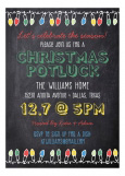 Bright Lights Chalkboard Invitation