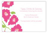 Bright Pink Poppies Enclosure Card