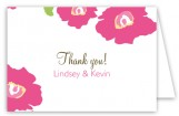 Bright Pink Poppies Folded Note Card