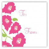 Bright Pink Poppies Square Sticker